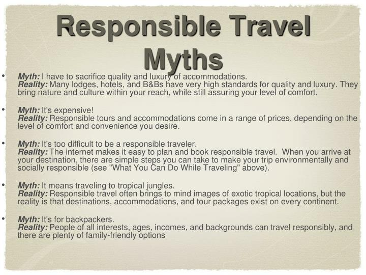 Responsible Travel Myths