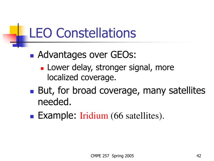LEO Constellations