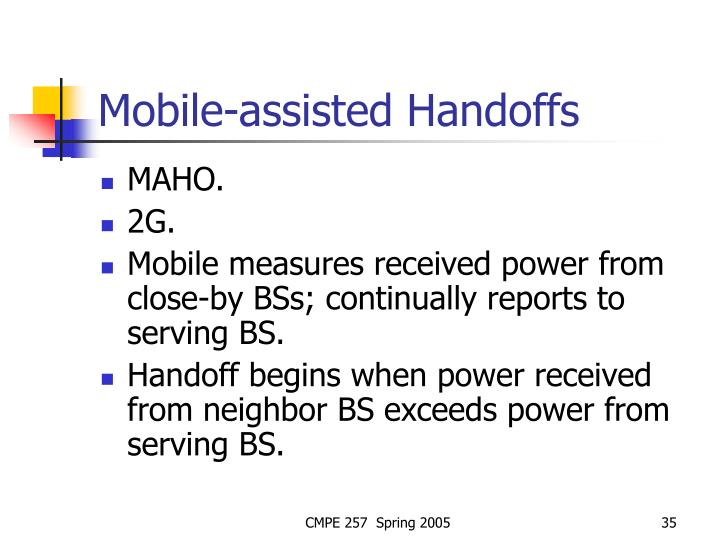 Mobile-assisted Handoffs