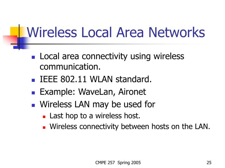 Wireless Local Area Networks