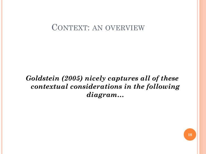 Context: an overview