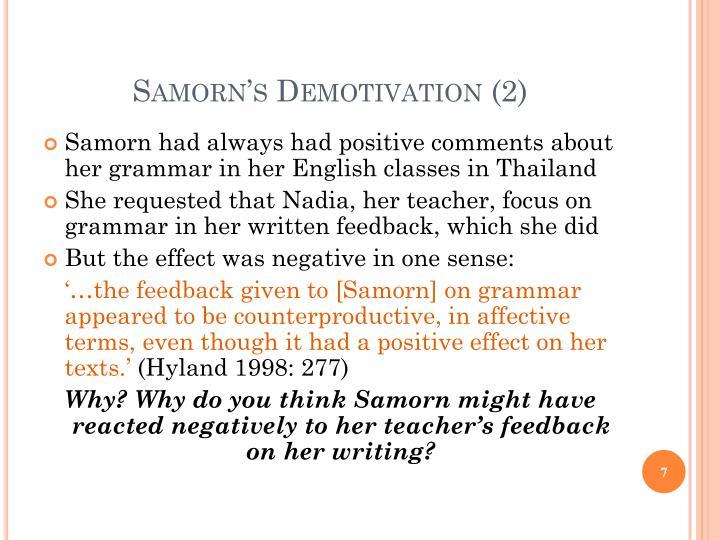 Samorn's Demotivation (2)