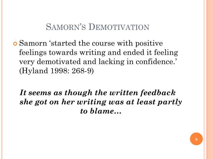 Samorn's Demotivation