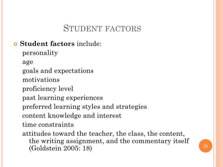 Student factors