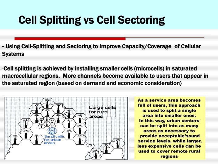 Cell Splitting vs Cell Sectoring