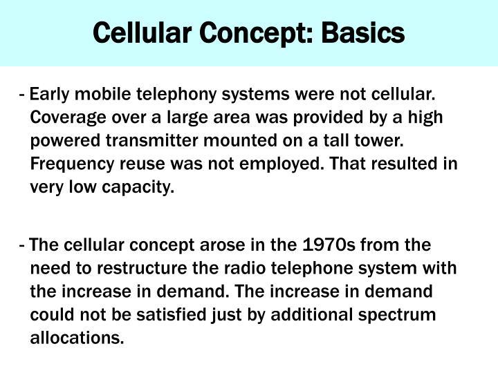 Cellular Concept: Basics