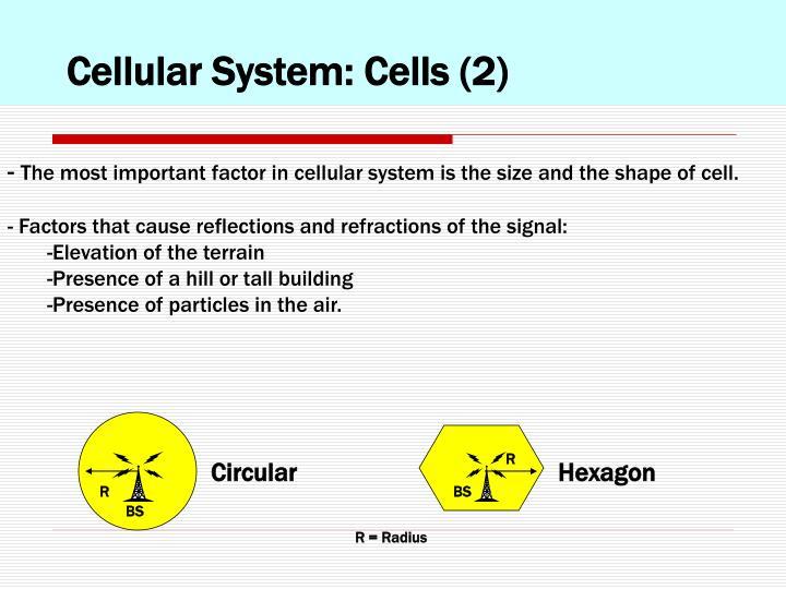 Cellular System: Cells (2)