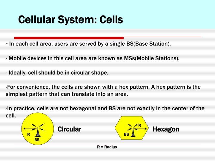 Cellular System: Cells