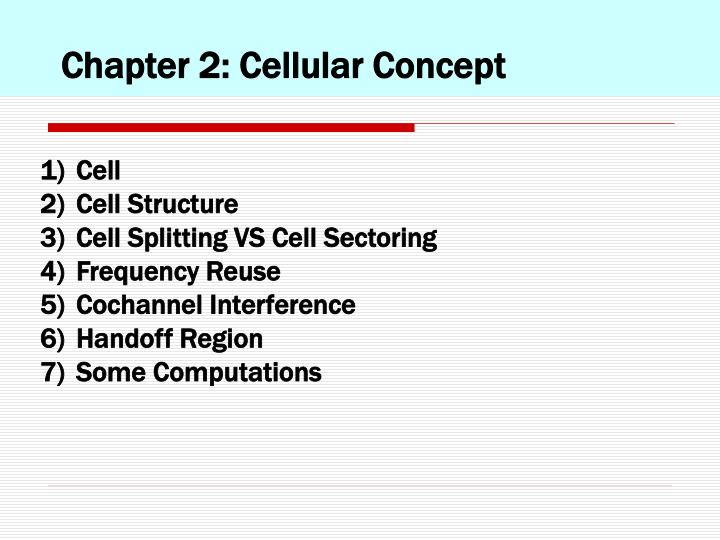 Chapter 2: Cellular Concept