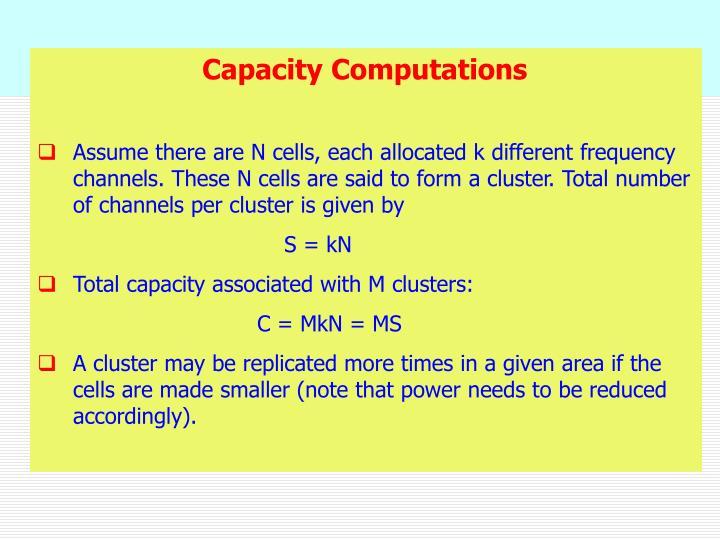 Capacity Computations