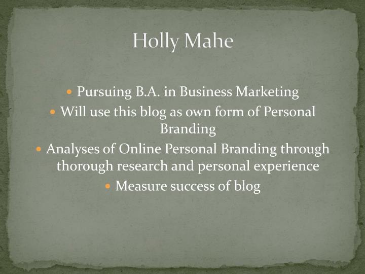 Holly Mahe