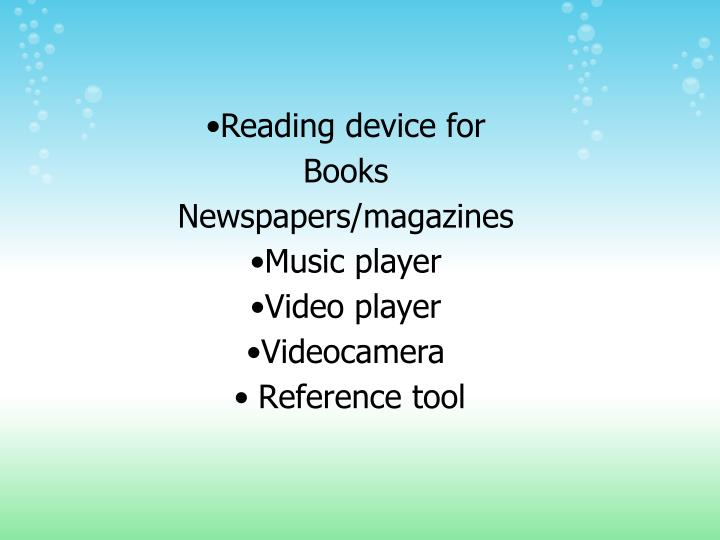 Reading device for