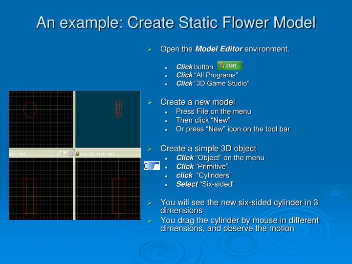 An example: Create Static Flower Model