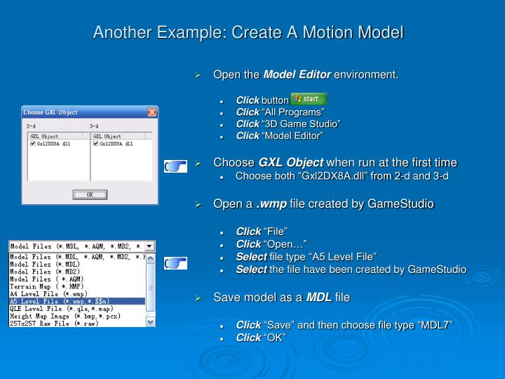 Another Example: Create A Motion Model
