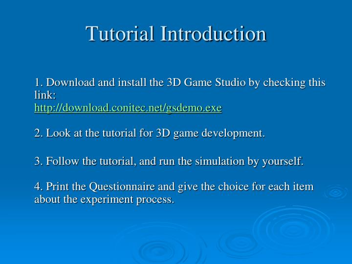 Tutorial Introduction