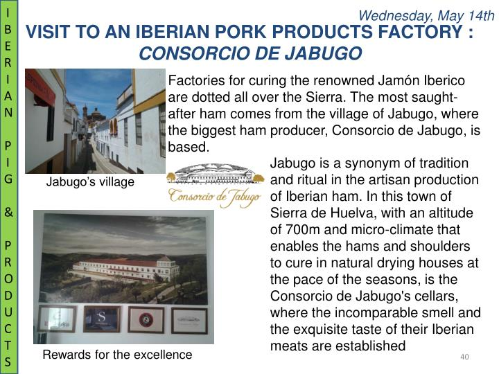IBERIAN PIG & PRODUCTS