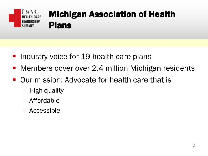 Michigan Association of Health Plans