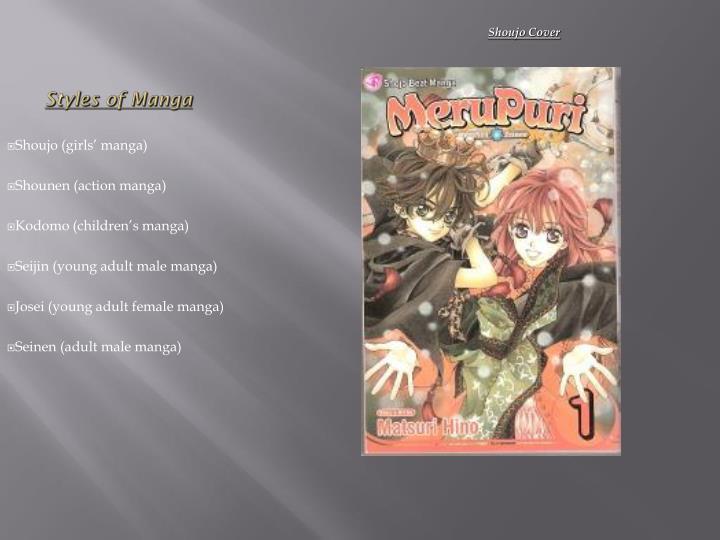 Styles of Manga
