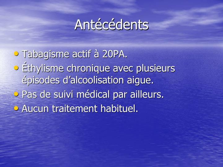 Antécédents