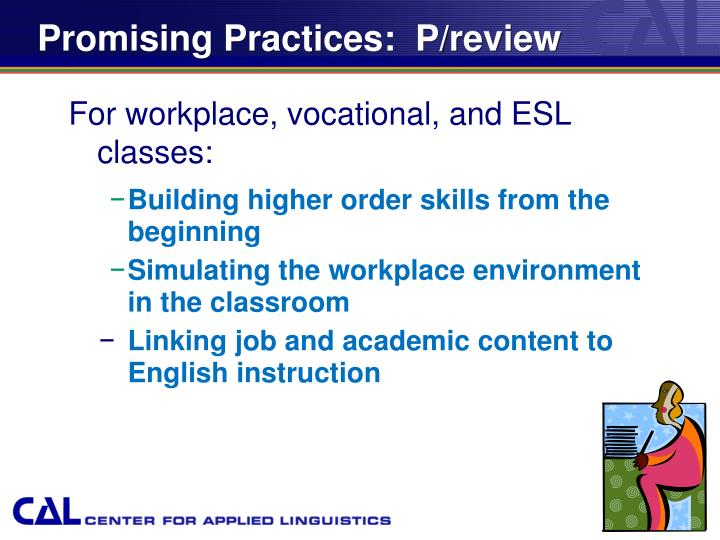 Promising Practices:  P/review