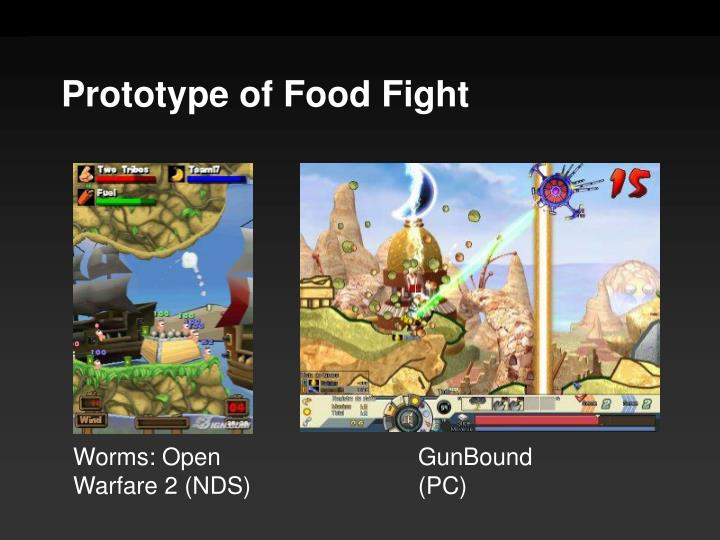 Prototype of Food Fight