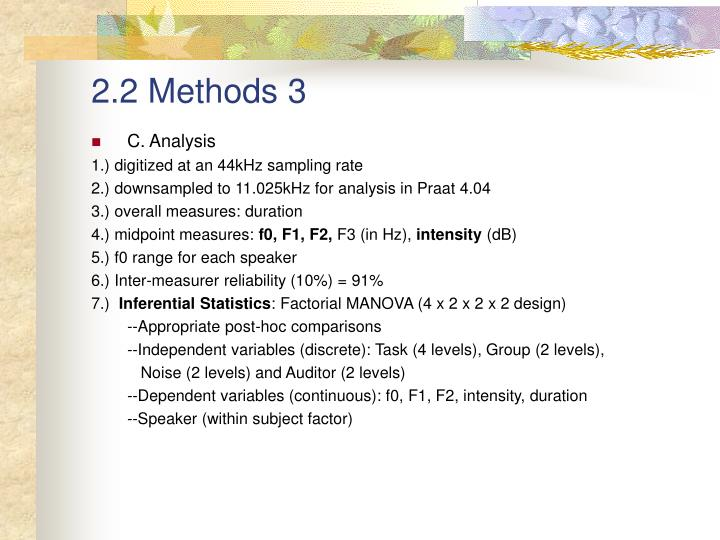 2.2 Methods 3