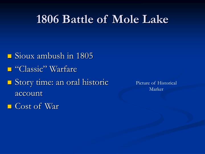 1806 Battle of Mole Lake