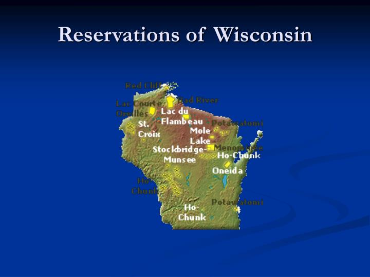 Reservations of Wisconsin