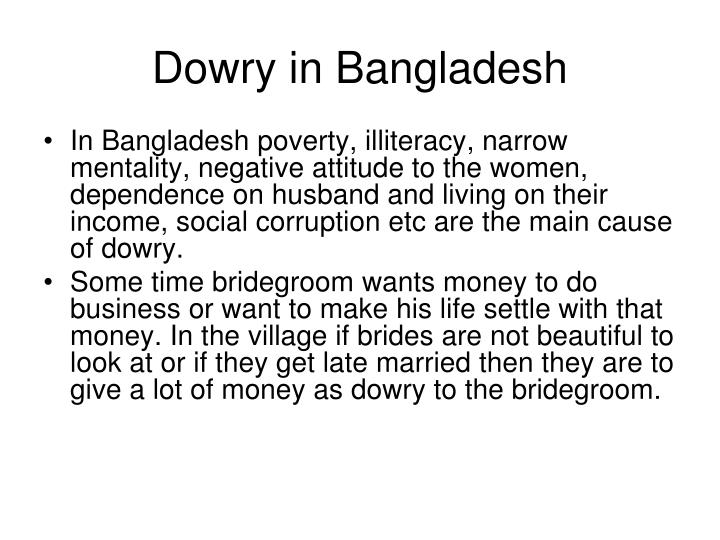 Dowry in Bangladesh