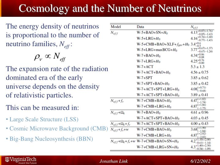 Cosmology and the Number of Neutrinos