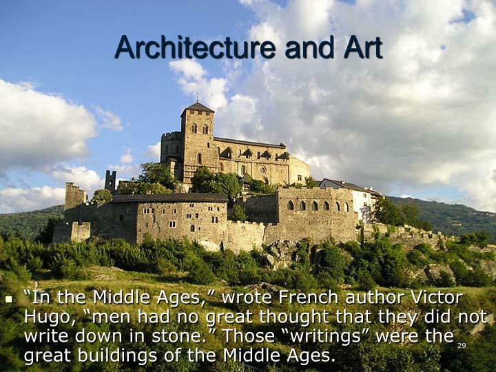"""""""In the Middle Ages,"""" wrote French author Victor Hugo, """"men had no great thought that they did not write down in stone."""" Those """"writings"""" were the great buildings of the Middle Ages."""
