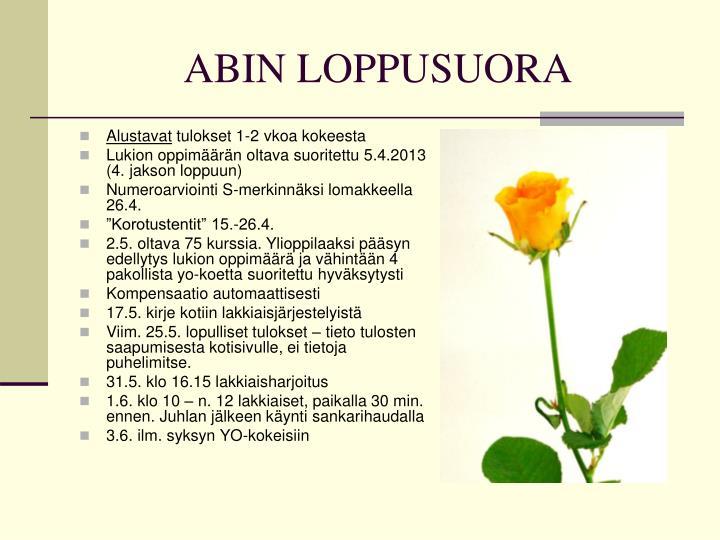 ABIN LOPPUSUORA