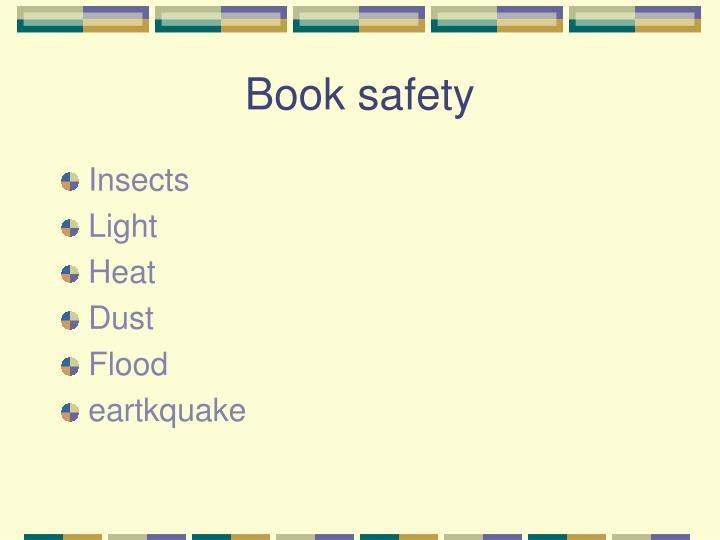 Book safety