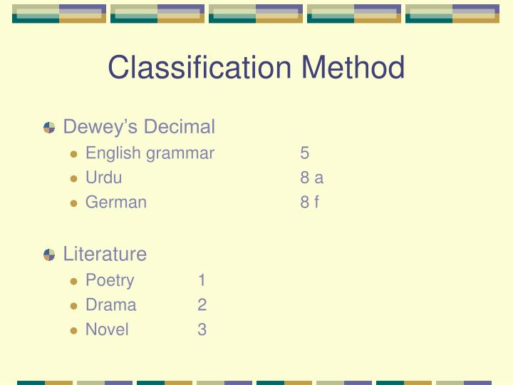 Classification Method