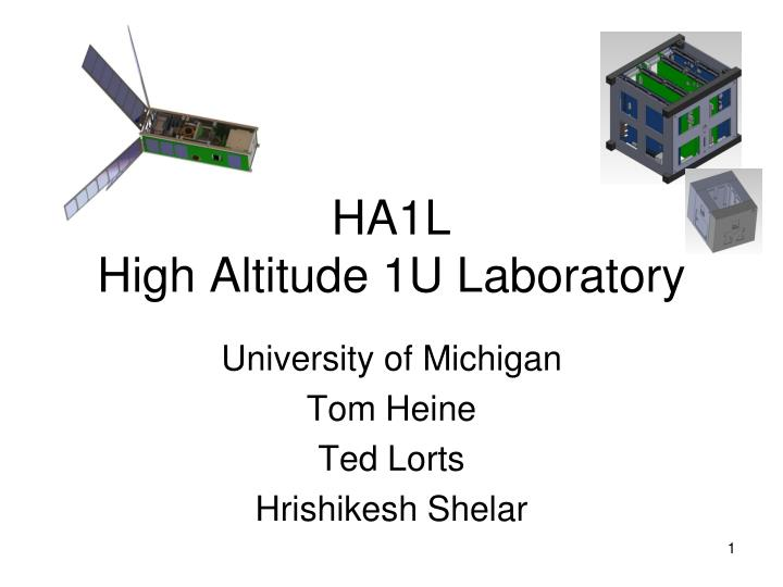 Ha1l high altitude 1u laboratory