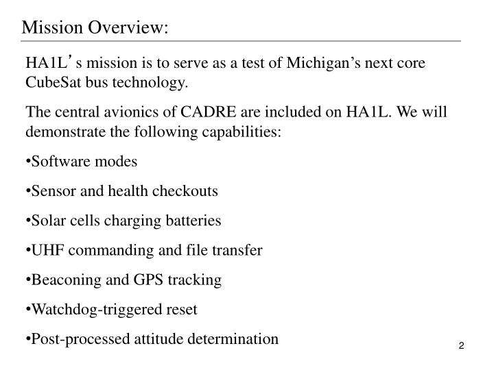 Mission Overview:
