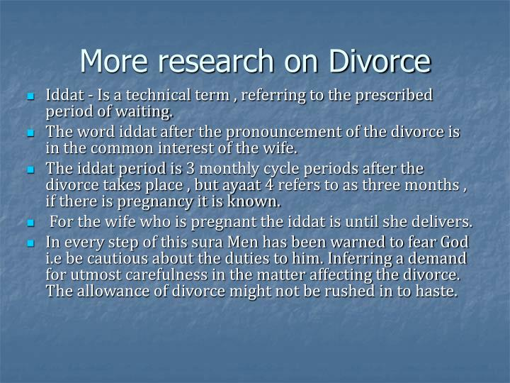 More research on Divorce