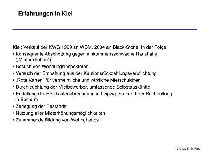Erfahrungen in Kiel