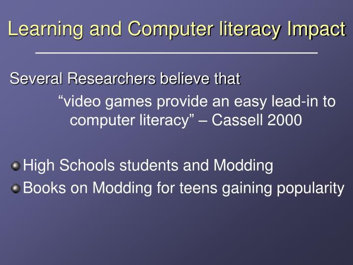Learning and Computer literacy Impact