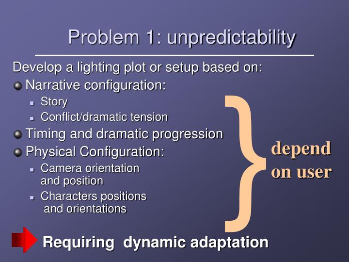 Problem 1: unpredictability