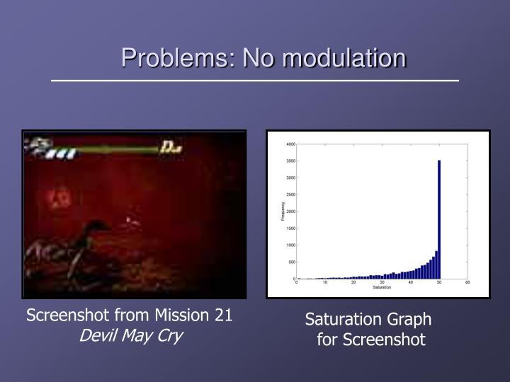 Problems: No modulation