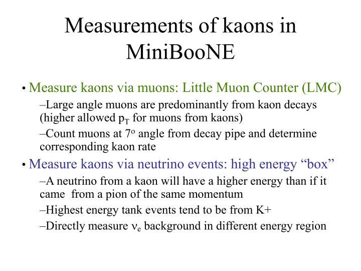 Measurements of kaons in MiniBooNE