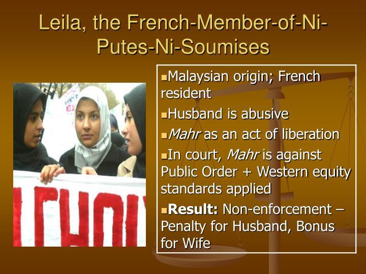 Leila, the French-Member-of-Ni-Putes-Ni-Soumises