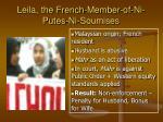 leila the french member of ni putes ni soumises