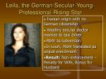 leila the german secular young professional rising star