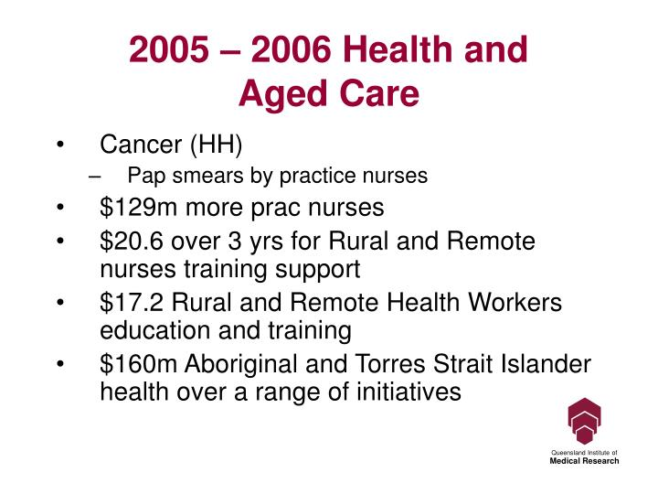 2005 – 2006 Health and