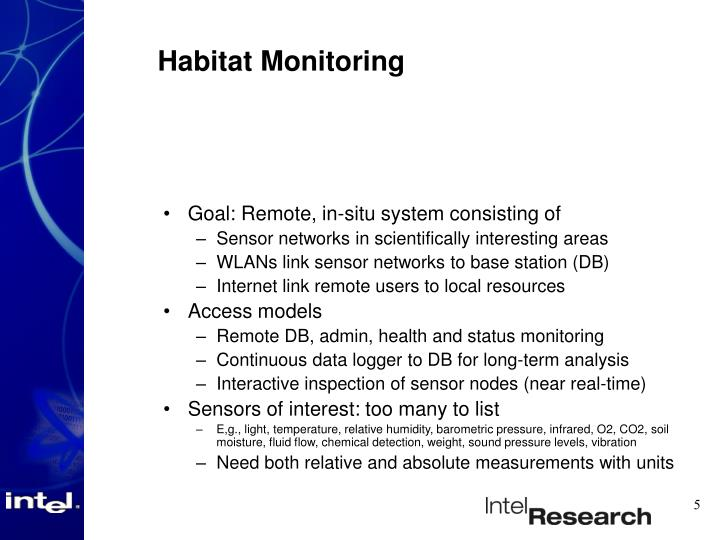 Habitat Monitoring