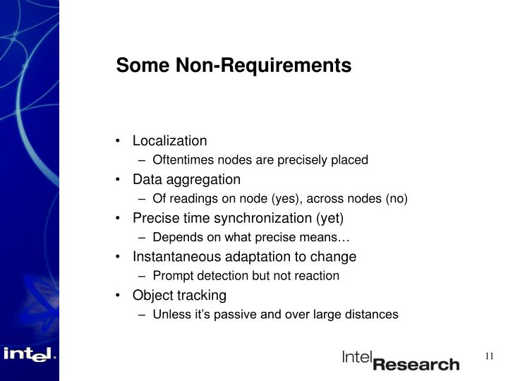 Some Non-Requirements