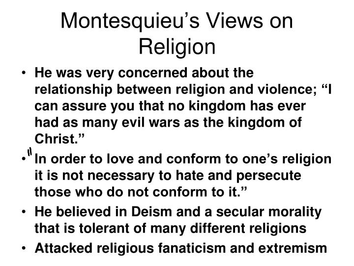 Montesquieu's Views on Religion