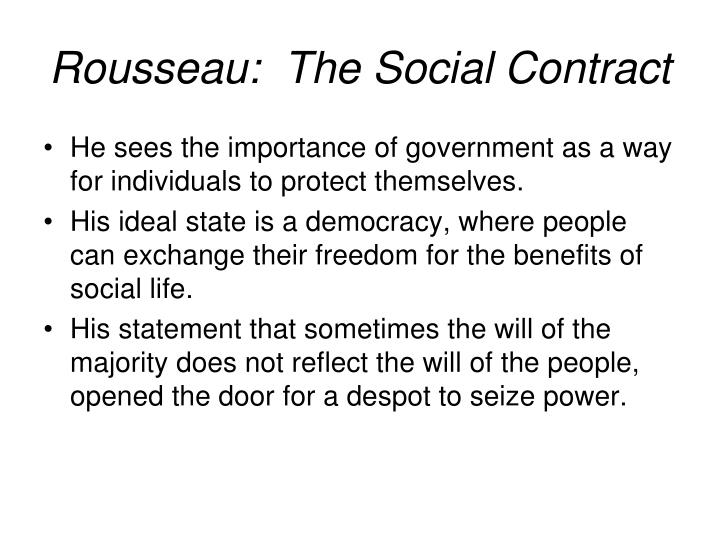 Rousseau:  The Social Contract